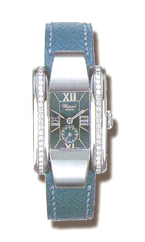 Chopard La Strada Series Diamond Steel Blue Ladies Swiss Quartz Watch 418412
