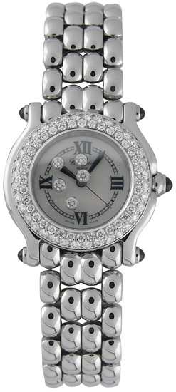 Chopard Happy Sport Series Stainless Steel Ladies Swiss Quartz Watch 278294-23
