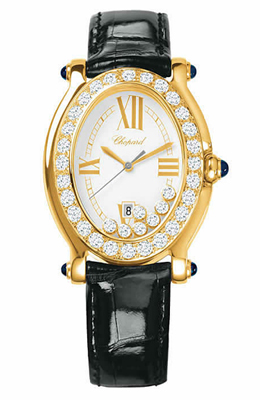 Chopard Happy Sport Series Ladies Oval with 18k White Gold Quartz Watch 2770002311WMP