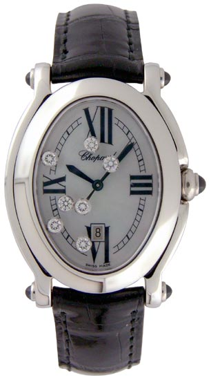 Chopard Happy Sport Series Fashionable Oval Ladies Swiss Quartz Wristwatch