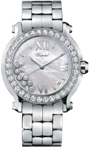 Chopard Happy Sport Series Stainless Steel Ladies Swiss Quartz Watch 278478-20
