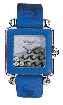 Chopard Happy Sport Series Diamond Steel Ladies Swiss Quartz Wristwatch 278896-403 in Blue