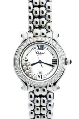 Chopard Happy Sport Series Diamond Steel Ladies Swiss Quartz Wristwatch 278280-2311