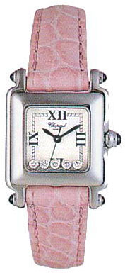 Chopard Happy Sport Series Diamond Steel Ladies Swiss Quartz Wristwatch 278892-23 in Pink