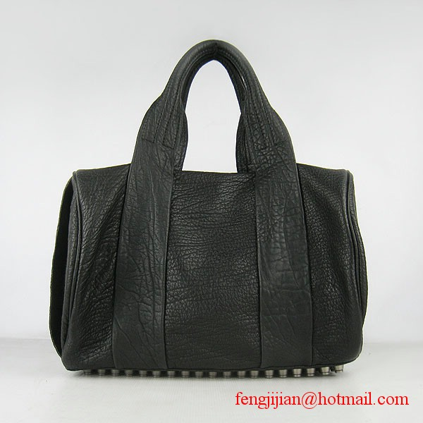 Alexander Wang 63460 Coco Duffle Studded Bag Black