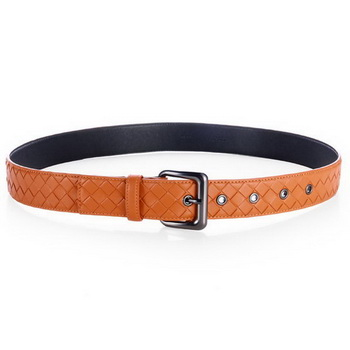 Bottega Veneta Intrecciato Nappa Belt Orange