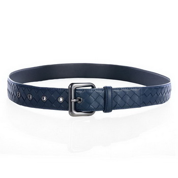 Bottega Veneta Intrecciato Nappa Belt RoyalBlue