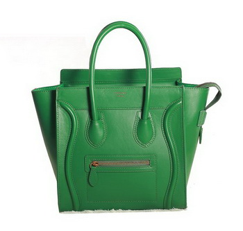 Celine Luggage Micro Boston Bag Original Leather 3307 Green