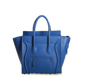 Celine Luggage Micro Boston Bag Original Leather 3307 RoyalBlue