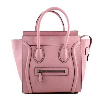 Celine Luggage Micro Tote Bag Clemence Leather 88023 Light Pink