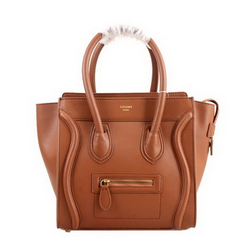 Celine Luggage Micro Boston Bag Smooth Leather 98167 Camel