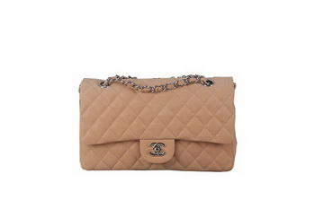 Chanel 2.55 Series Classic Flap Bag A01112 Beige Original Nubuck Cannage Pattern Leather Silver
