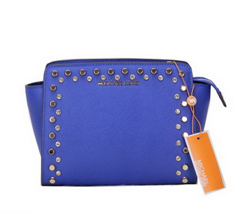 Michael Kors MK1879 Blue Mini Selma Messenger Bag