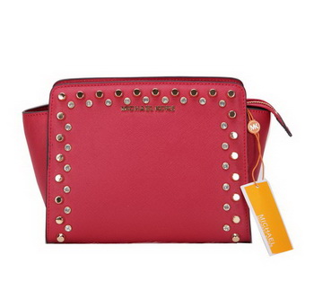 Michael Kors MK1879 Red Mini Selma Messenger Bag