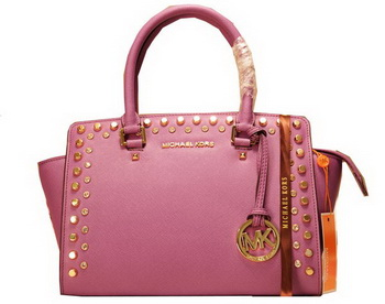 Michael Kors Selma Top-Zip Satchel Bag MK1887 Purple