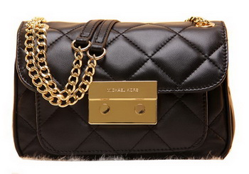 Michael Kors Original Leather Clutch Bag MK0819 Black