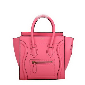 Celine Luggage Micro Handbags Smooth Leather C107 Pink
