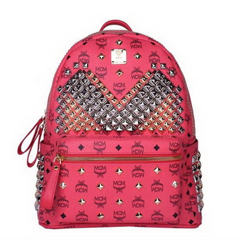 MCM Medium Stark Front Studs Backpack MC4237 Red