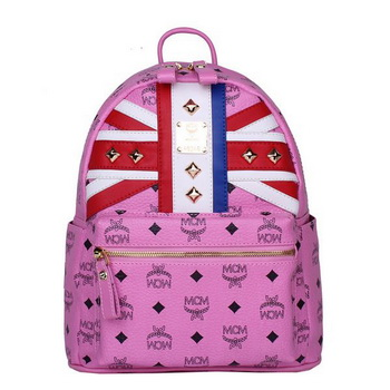 MCM Small Flag of UK Backpack MC5173S Rosy