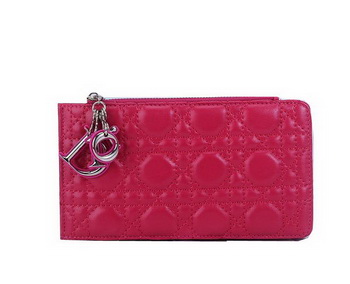 Dior Card Case in Lambskin Leahter CD108 Rose