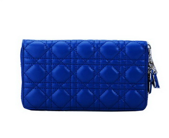 Lady Dior Escapade Wallet Sheepskin Leahter CD1098 Blue