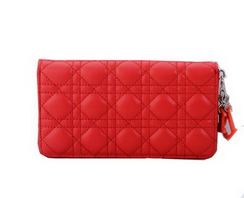 Lady Dior Escapade Wallet Sheepskin Leahter CD1098 Red