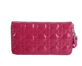 Lady Dior Escapade Wallet Patent Leahter CD189 Rose