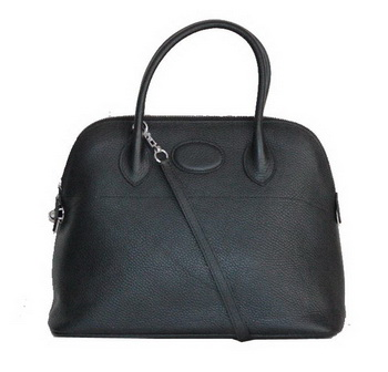 Hermes Bolide 37CM Calfskin Leather Tote Bags H509084 Black