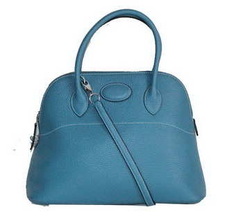 Hermes Bolide 37CM Calfskin Leather Tote Bags H509084 Blue