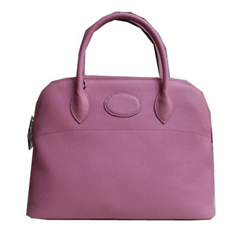 Hermes Bolide 37CM Calfskin Leather Tote Bags H509084 Pink