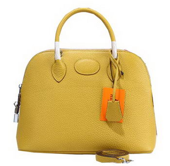Hermes Bolide 31CM Calfskin Leather Tote Bags H509083 Yellow