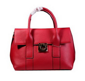 Ferragamo Medium Tote Bag Calfskin Leather 21D941 Red