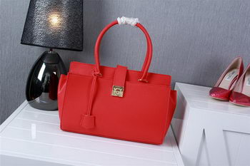 Ferragamo Medium Tote Bag Calfskin Leather 1129 Red