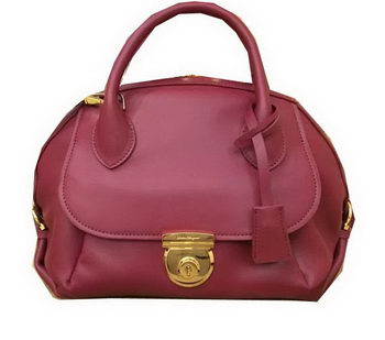 Ferragamo Medium Tote Bag Calfskin Leather SF0612 Burgundy