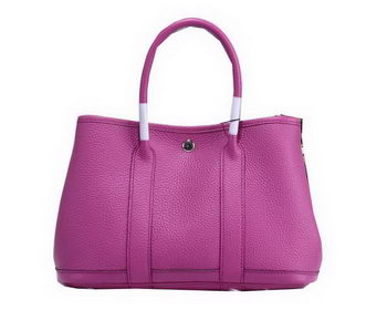 Hermes Garden Party 30cm Tote Bags Grainy Leather Lavender