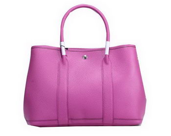 Hermes Garden Party 36cm Tote Bag Grainy Leather Lavender