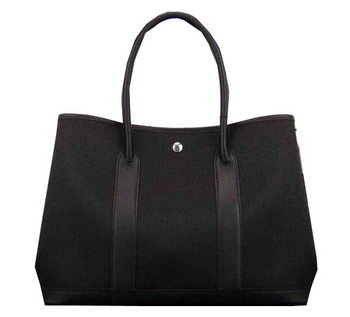 Hermes Garden Party 36cm 30cm Tote Bag Canvas Black