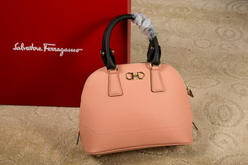 Ferragamo Medium Double Gancio Tote Bag 21E703 Dark Pink