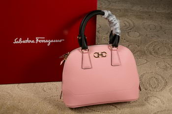 Ferragamo Medium Double Gancio Tote Bag 21E703 Pink