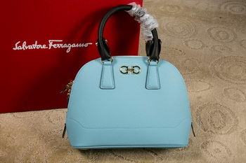 Ferragamo Medium Double Gancio Tote Bag 21E703 SkyBlue