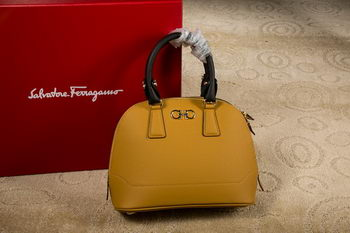 Ferragamo Medium Double Gancio Tote Bag 21E703 Yellow