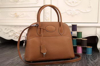 Hermes Bolide 31CM Original Leather Tote Bag Wheat