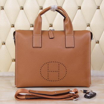 Hermes Briefcase Original Grainy Leather H8813T Wheat