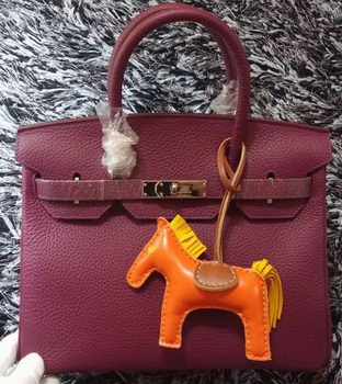 Hermes Birkin 30CM Tote Bags Litchi Leather H30LI Purple
