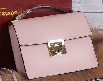 Ferragamo Calfskin Leather Medium Shoulder Bag SF0614 Pink