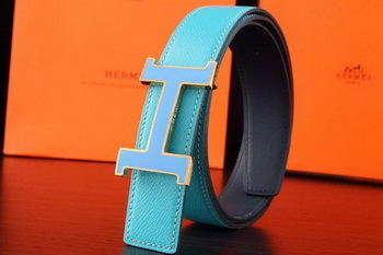 Hermes Belt H3031G SkyBlue