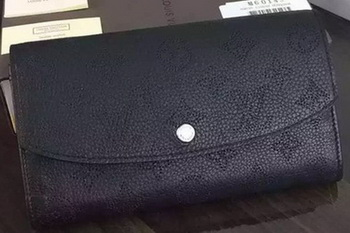Louis Vuitton Mahina Leather IRIS Wallet M60144 Black