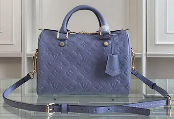Louis Vuitton Monogram Empreinte Speedy Bandouliere 25 M91337 SkyBlue