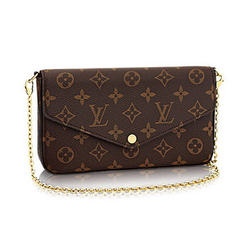 Louis Vuitton Monogram Canvas Felicie Chain Wallet M61276