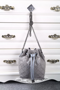 Stella McCartney Falabella Studded Quilted Bucket Bag SMC013 Grey